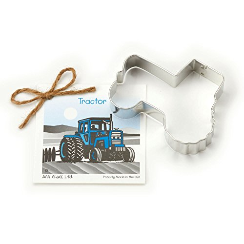 - Tractor Cookie and Fondant Cutter - Ann Clark - 4.3 Inches - US Tin Plated Steel