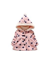 Perman Baby Girls Lovely Heart Warm Hoodie Down Jacket Winter Outwear