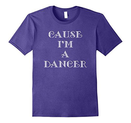 [Mens Dancer Dance T-Shirt Small Purple] (Cabaret Costumes For Men)