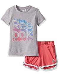 Reebok - Conjunto de Playera y pantalón Corto para niña