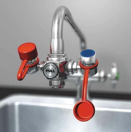 Watersaver Faucet EW100 Water Saver Eyewash Faucet Attachment 3'', Plastic, 2.4'' x 5.5'' x 2.6''