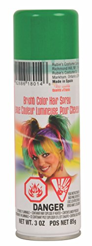 Rubie's Bright Color Hairspray, Green -