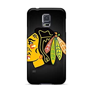 Best Hard Phone Covers For Samsung Galaxy S5 (GST3771QJso) Allow Personal Design HD Chicago Blackhawks Pattern