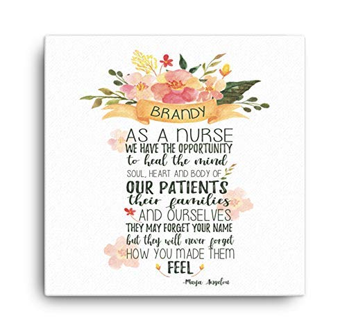 As a Nurse Quote Canvas Wall Art