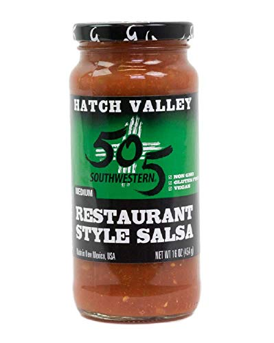505 Southwestern Hatch Valley Medium Green Chile Restaurant Style Salsa, 16 Ounce