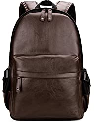 VICUNA POLO Man Leather Backpack Laptop Bag For 15.6inch Business Backpack For Men