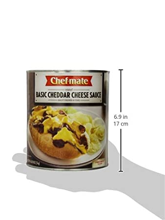 Amazon.com: Chef-mate Original Basic Cheddar Cheese Sauce, Superbowl Party Nacho Sauce, Great for Macaroni and Cheese, 6 lb 10 oz, #10 Can Bulk