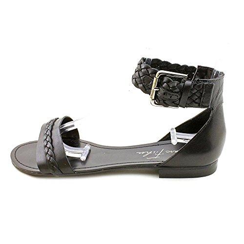 Marc Fisher Eiden Womens Size 8.5 Black Open Toe Leather Slingback Sandals Shoes