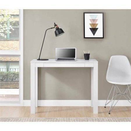 Mainstays Furniture NEW Parsons Desk with Drawer, Multiple Colors (Black)
