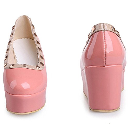 Women Pink Flatform Cute KemeKiss Shoes Pumps ZYpddq