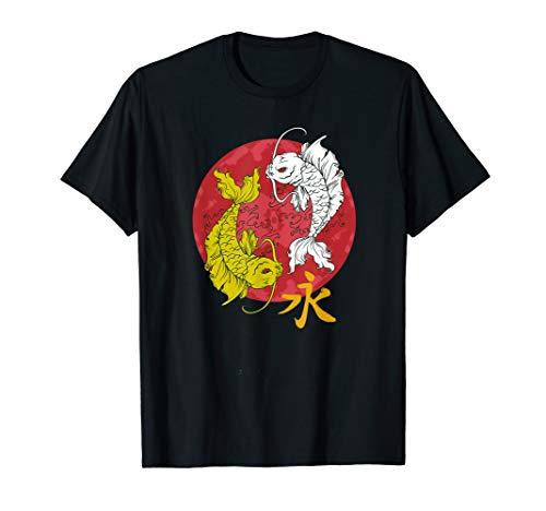 (Double Golden Koi FIsh Pisces Astrology Horoscope Zodiac T-Shirt)