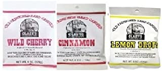 product image for Claeys Cinnamon, Lemon Drops and Wild Cherry Set - 3 Pack (1-6oz Bag of Each)