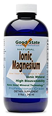 Good State - Liquid ionic minerals magnesium (96 servings at 100 mg elemental - plus 2 mg fulvic acid) 8 floz