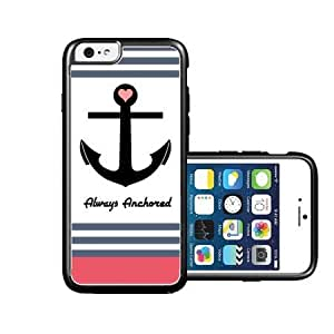 RCGrafix Brand Always Anchored Coral Stripes iPhone 6 Case - Fits NEW Apple iPhone 6