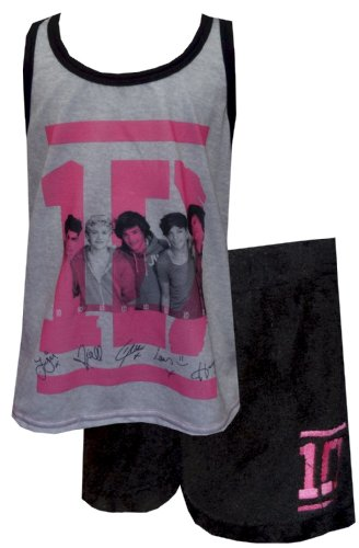 One Direction 1D Boy Band Shortie Pajamas for Big Girls (10): Amazon ...
