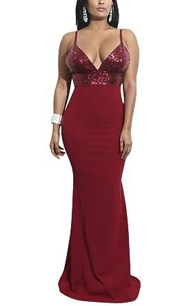 Women s Mermaid Semi Formal Dresses - Elegant Spaghetti Strap Sequin Long  Evening Ball Gowns at Amazon Women s Clothing store  3ab236b3c
