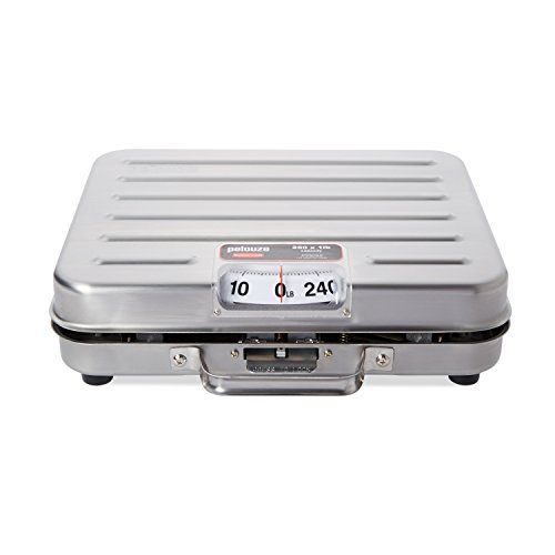"""Rubbermaid Commercial FGP250SS """"Briefcase"""" Style Digital Receiving Scale for Food Service, English, 250-pound, Stainless Steel"""