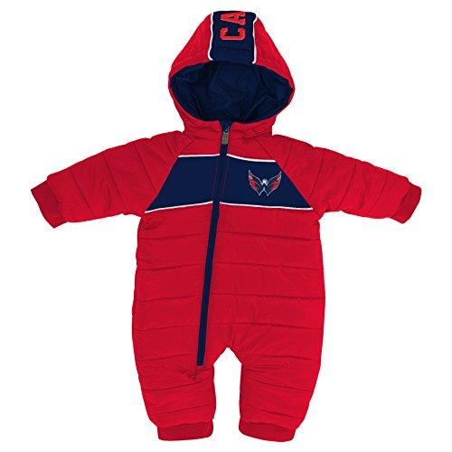 NHL Washington Capitals Newborn & Infant Puck Drop Puffer Bodysuit, Red, 3-6 Months