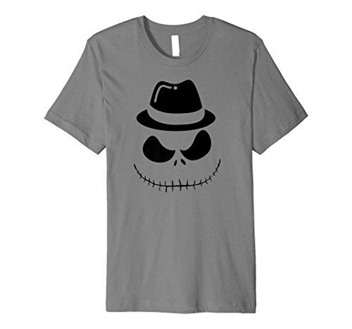 Hipster Skeleton Pumpkin Face Carving Hat (Fedora) T-Shirt
