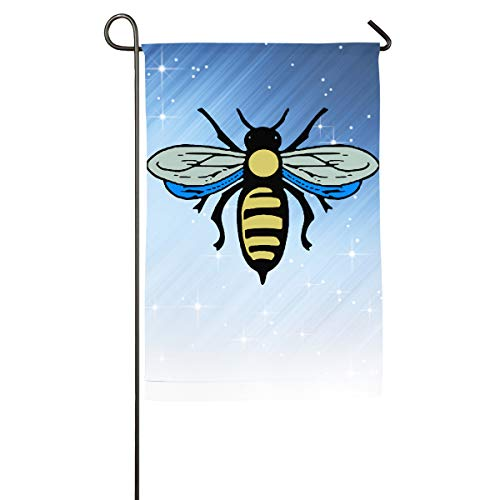 Ray Gloss Blu Lip (FOOOKL Abeille Bee Home Family Party Flag 101 Hipster Welcomes The Banner Garden Flags)