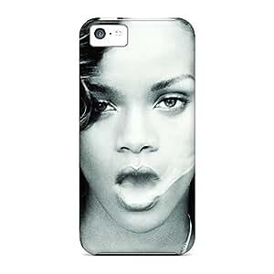Iphone 5c UfN2735KkPr Custom Realistic Rihanna Pattern Excellent Hard Phone Covers -ColtonMorrill