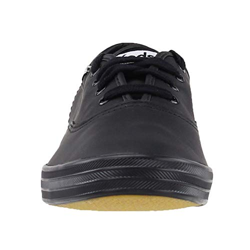 Keds Women's Champion Black/Black Leather Shoes Wide Width women's 12 by Keds (Image #5)