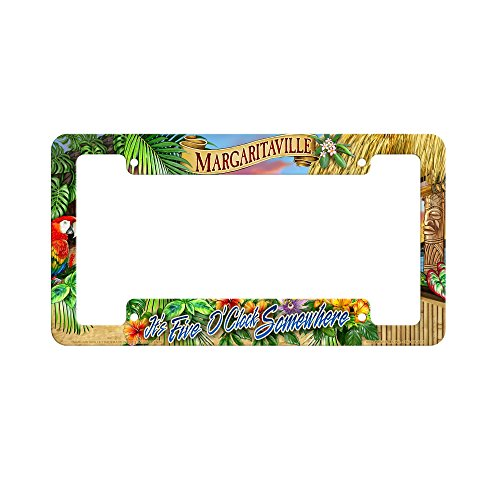 Rico Industries 5 O'clock Sunset Margaritaville Crystal View License Plate Frame