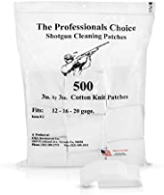 """Professional's Choice Gun Cleaning Patches (500 Pack) Cotton Knit - 3"""" Square, Shotgun 12-"""