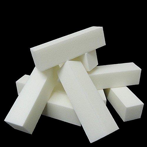 White Nail Manicure Buffer Buffing Sanding Block File Salon Art Acrylic Popular