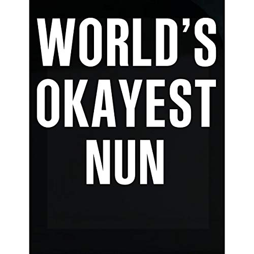 Inked Creatively World's Okayest Nun Funny Gift - Sticker