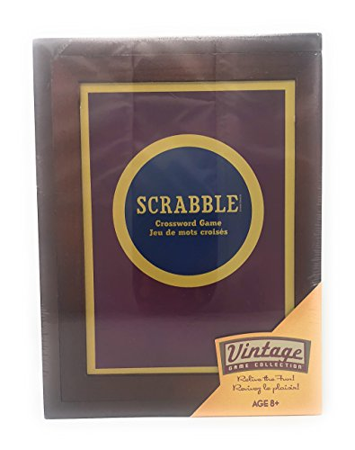- Hasbro Parker Brothers Vintage Game Collection: Wooden Book Box Scrabble
