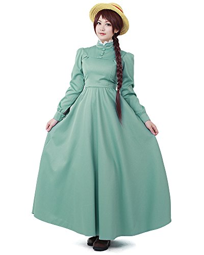 Miccostumes Women's Sophie Hatter Cosplay Costume (Women l) Green