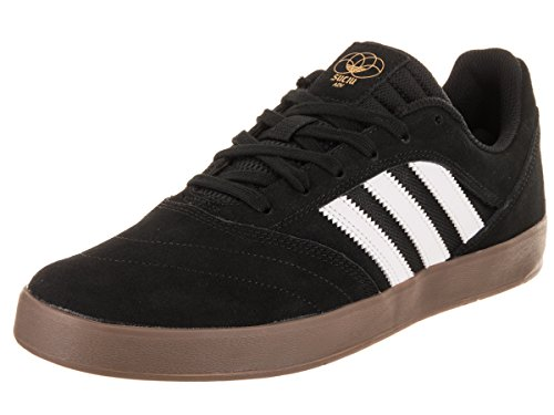 adidas Men's Suciu ADV II Skate Shoe (11 D(M) US, Black/White/Gum) (2 Mens Skateboard Shoes)