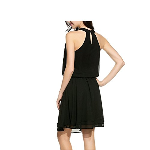 Off Dress Vintage Slimming Tulle Mid Dress High Black Elastic s Women Waist Shoulder SYGoodBUY The Shoulder wxXfSYIqI