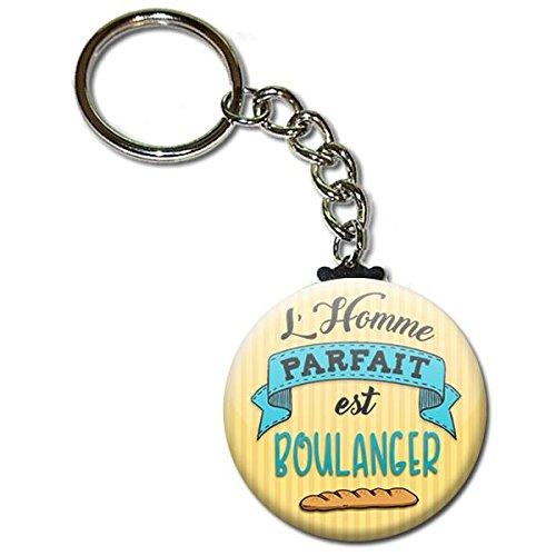 LHomme parfait est boulanger Porte clés chaînette 38mm (Idée Cadeau Homme Saint Valentin