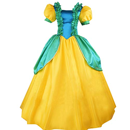 Adult Evil Step Sisters Fancy Costume Court Dress Halloween (L) Yellow]()