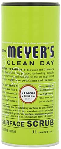 Mrs. Meyer's Clean Day Surface Scrub, Lemon Verbena, 11 Ounce Canister - Surf Scrubs