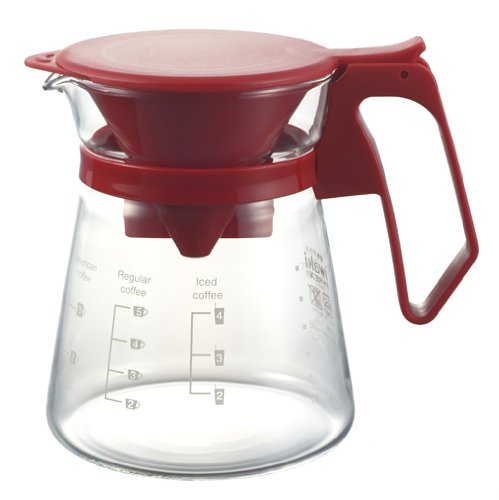 iwaki NEW coffee house 600ml Red K8685-R (japan import) (Glass Teapot Adagio Teas)