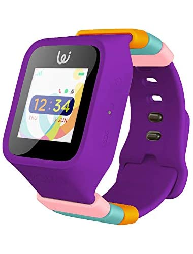 iGPS Wizard Smart Watch for Kids with SIM Card Live GPS Tracking Cellular Voice Text Adjustable Water Resistant SOS  Danger Zone Device Removal Alerts LED Touch Screen Display  Purple