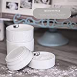 Goodscious White Ceramic Mason Jar Measuring Cups - Kitchen Set - Baking Supplies Dry and Liquid Ingredient - Retro and Farmhouse Decor - Dishwasher and Microwave Safe - Rustic Accessory - 4 Piece Set