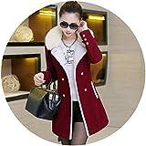 Women Explosion Section Wool Coat Medium Long Fall Winter Tide Big Size high-end Fur Collar Coat,Jujube,XL