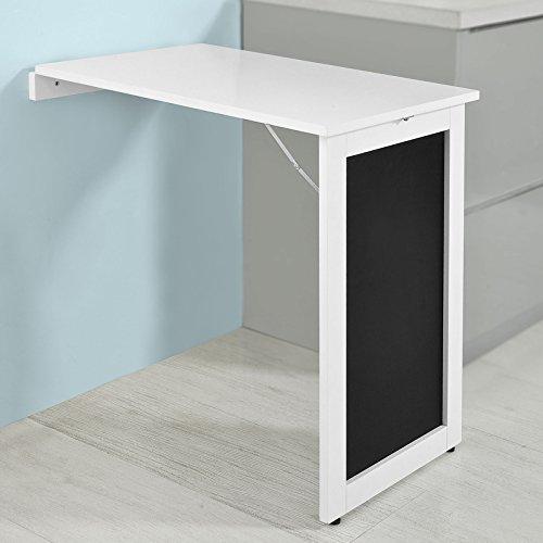 SoBuy® Tavolo da Muro Pieghevole,con Lavagna,75 * 50 cm, Bianco ...