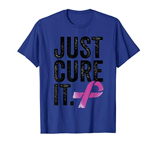 Breast cancer awareness shirts for women and men cure it ()