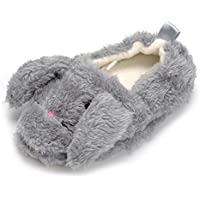 Butterflykisses Baby Girl's Premium Soft Plush Slippers Cartoon Warm Winter House Shoes