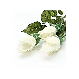 20 Pcs/lot Artificial Flowers Latex Rose for a Wedding Home Party Decoration Real Touch Christmas Flower,White 3 119