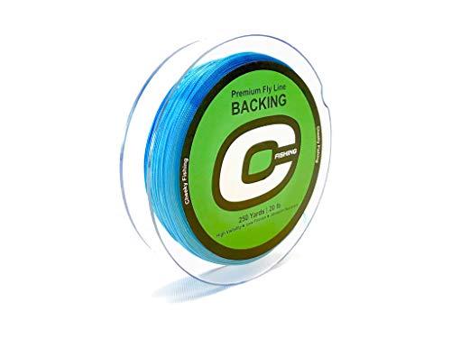 - Cheeky Premium Fly Line Backing, 250 Yard, 20lb. Spool, Blue