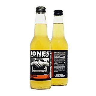 Jones Soda 12 ounce Glass Bottles (Ginger Beer, 12 Bottles)