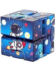 Nieskończoność kostka zabawki magiczne klocki kostka zabawka dla dzieci nastolatki Puzzle kwadraty zabawka na biurko ręczna zabawka typu f idget do relaksu