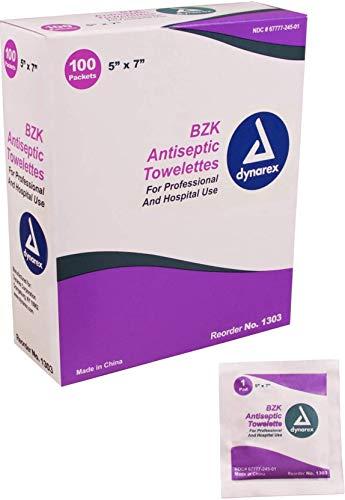 Dynarex Antiseptic Wipe Benzalkonium BZK First