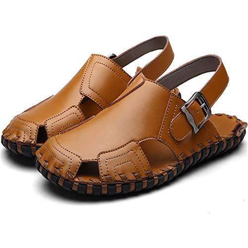 Scarpe Da Wagsiyi Scarpe Da pantofole Dimensione da Estivi 40 Sandali Nero Doppie Fatte Mano Scarpe Marrone Colore Scarpe Da Traspiranti EU A Uomo Uomo Spiaggia spiaggia qWnTqxYr